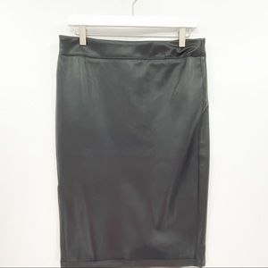 Rachel Zoe Faux Leather Pencil Skirt